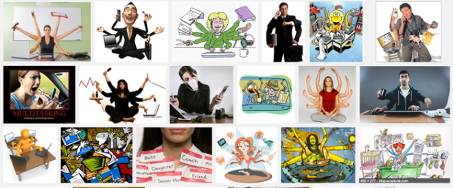 "Google Search: ""multitask"" returned these and many other images."