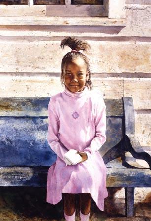 Mark Stewart - Pink Dress Girl