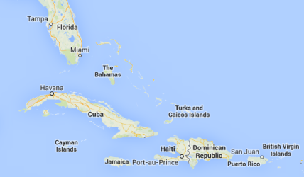 For your reference, here's a map showing Hispaniola (currently occupied by Haiti and Dominican Republic), Puerto Rico, and nearby Florida.