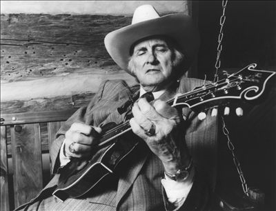 Bill Monroe, as pictured on his entry in the All Music Guide. Click on the pic to see the bio and his extensive discography.