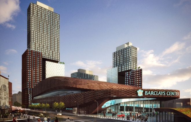 Here's a look at SHoP's plans for a high-density development surrounding their Barclay Center area in downtown Brooklyn.