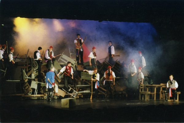 From a terrific article in Broadway World, a look at Volpe's production of Les Miserables. Producer Cameron Mackintosh attended the last performance, which proved that the show could be produced on a high school stage, and so, the producer made it available to high schools everywhere.