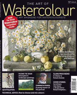 The Art of Waterolour Magazine: The Art Magazine for Watercolourists, Issue 15 is now available. Race to your Barnes & Noble bookstore to have a look; copies are always in limited supply.