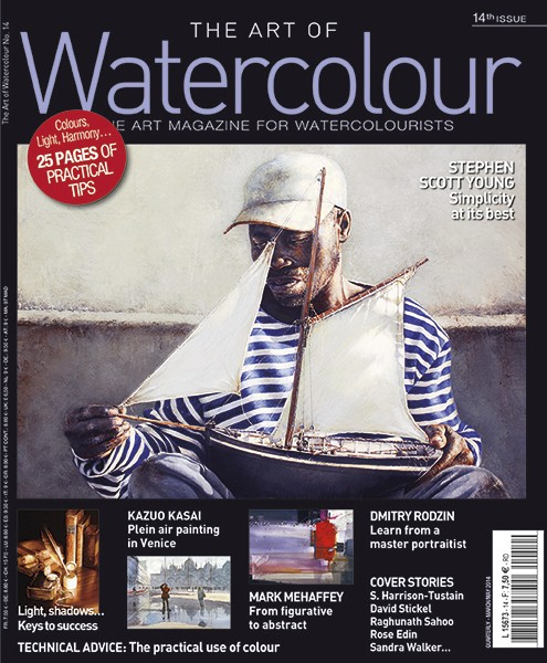 Here's the cover of Issue 14 with a good painting by Stephen Scott Young on the cover.