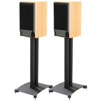 The Sanus Steel Foundation Mark IV Speaker Stand available from Audio Advisor for about $130-150.