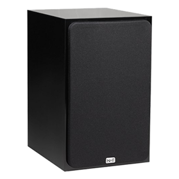 A very simple black box: the NHT Super Zero loudspeaker, a long-time favorite.