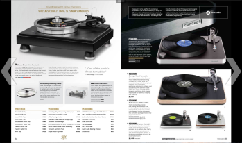 A two-page spread from Music Direct's print (or PDF) catalog. Or, simply visit the website.